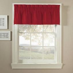 CHF Basketweave Single Pintuck Tailored Valance Top Treatmen