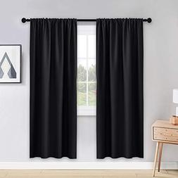 PONY DANCE Blackout Curtains 72 Long - Solid Rod Pocket Ther