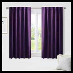 BEIGE Blackout Curtains Kitchen Window Drapes Short Heavy Du