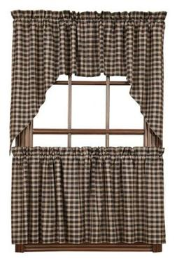 VHC Brands Americana Classic Country Kitchen Window Curtains