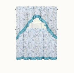 Regal Home Collections Birds & Blossom Kitchen Curtain Set -