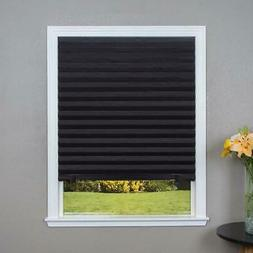 Black Blackout Cordless Pleated Shade 36-in x 72-in Home Dec