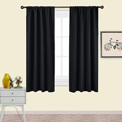 NICETOWN Black Blackout Curtain Blinds - Solid Thermal Insul