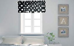 Crabtree Collection Curtain Valance for Windows Classic Blac