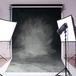 Black Grey Retro Vinyl Photography Backdrop Background Studi