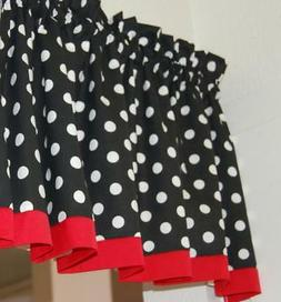 Black Red Polka Dot hello kitty minnie mouse fabric kitchen
