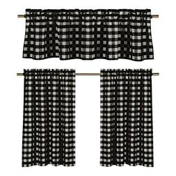 Black White Gingham Checkered Design