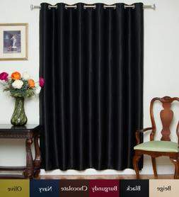 Blackout Curtain Black Wide Width Nickel Grommet Top Thermal