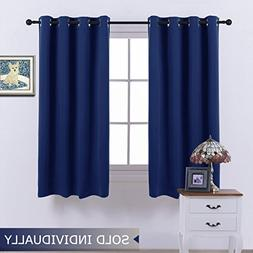 NICETOWN Navy Curtain 63 Inches Long - Home Decoration Light