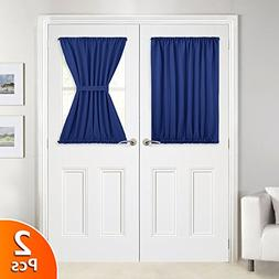 NICETOWN Blackout Curtain Panels for Patio Door - Blackout F