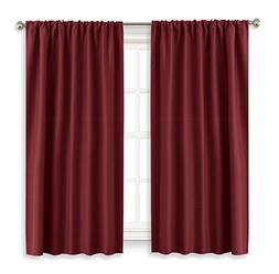 RYB HOME Blackout Curtain Panels Thermal Insulated Wide 42 b