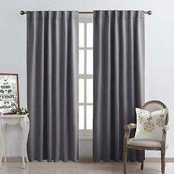 blackout curtain panels window draperies grey color