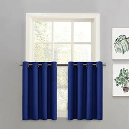 PONY DANCE Blackout Curtain Tier/Valance/Swag - Thermal Insu
