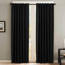 H.VERSAILTEX 100% Blackout Curtains for Bedroom Premium Ther