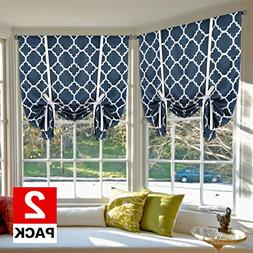 H.VERSAILTEX Blackout Curtains Energy Efficient Tie Up Shade