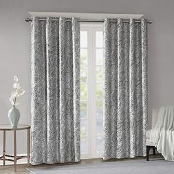 Blackout Curtains For Bedroom , Traditional Grommet Grey Win