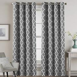 Blackout Curtains Noise Blocking Drapes Windows 96 inches Mo