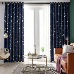 Blackout Curtains Stars Printed Thermal Insulated For Bedroo
