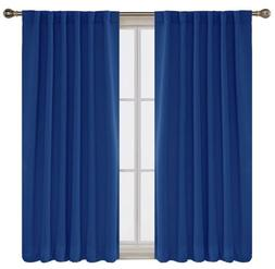 blackout curtains thermal insulated 52x45 in royal
