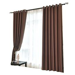 Blackout Darkening Thermal Insulated Big Window Curtains Hig