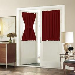 Rod Pocket French Door Curtain - Aquazolax Blackout Door Win