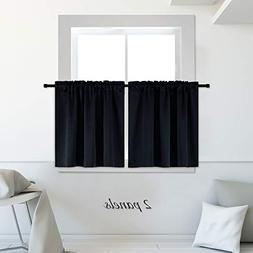 DONREN Blackout Energy Saving Kitchen Curtains,Thermal Insu
