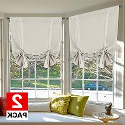 H.VERSAILTEX Blackout Innovated Tie Up Shade & Curtain Therm