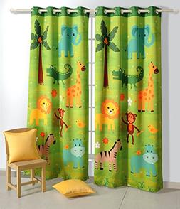 blackout polysatin door curtains