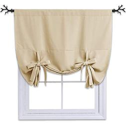 NICETOWN Blackout Room Darkening Curtain - Tie Up Shade Blin