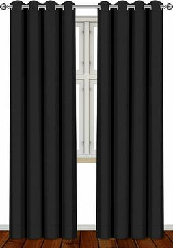 Blackout Room Darkening Curtains Window Blinds Panel Drapes
