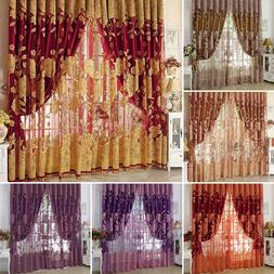 Flower Pattern Voile Curtains Living Room Window Curtain Tul