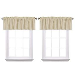 H.VERSAILTEX Blackout Thermal Curtain Valances for Kitchen R