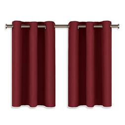 NICETOWN Christmas Valances for Small Window - Pair of Therm