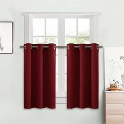 NICETOWN Blackout Small Window Valances Curtains - Pair of T