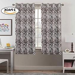 Blackout Zebra Curtains Panels for Bedroom - Three Pass Micr