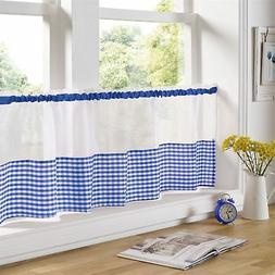 "BLUE AND WHITE GINGHAM 59"" X 18"" – 150CM X 45CM KITCHEN CA"