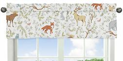 Sweet Jojo Designs Blue, Grey and White Animal Print Window
