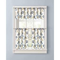 Better Homes and Gardens Blue Seashells Kitchen Curtains Set