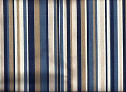 Blue Stripe Valance
