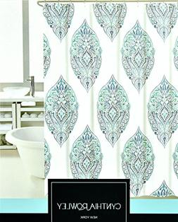 Bohemian Style Block Print Shower Curtain by Cynthia Rowley