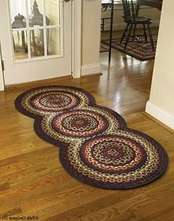 Braided Round Stenciled Painted Area Rug By Earth Rugs. APPL