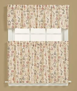 Saturday Knight Breaktime Coffee Tier Set or Valance Kitchen
