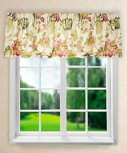 Ellis Curtain Brissac Tailored Valance, 70 x 15, Red