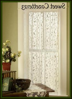 Heritage Lace Bristol Garden Panel, 60 by 84-Inch, Cafe