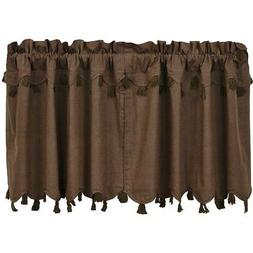 Brown Rustic & Lodge Kitchen Curtains VHC Carrington Tier Pa