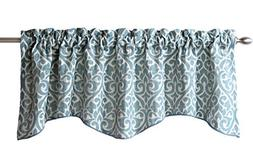 Bryce Chenille Scalloped Valance with Cording
