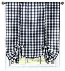 GoodGram Buffalo Check Plaid Gingham Custom Fit Window Curta