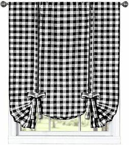 Buffalo Check Plaid Gingham Custom Fit Window Curtain Treatm