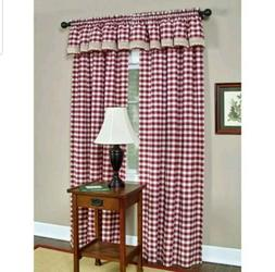 Buffalo Check Window Treatment Collection - Size: 42 W x 84