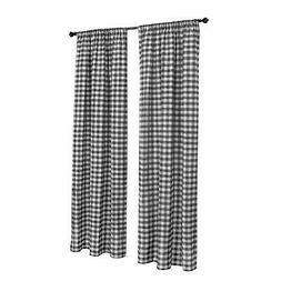 Buffalo Checkered Country Plaid Gingham, Black and White, Wi